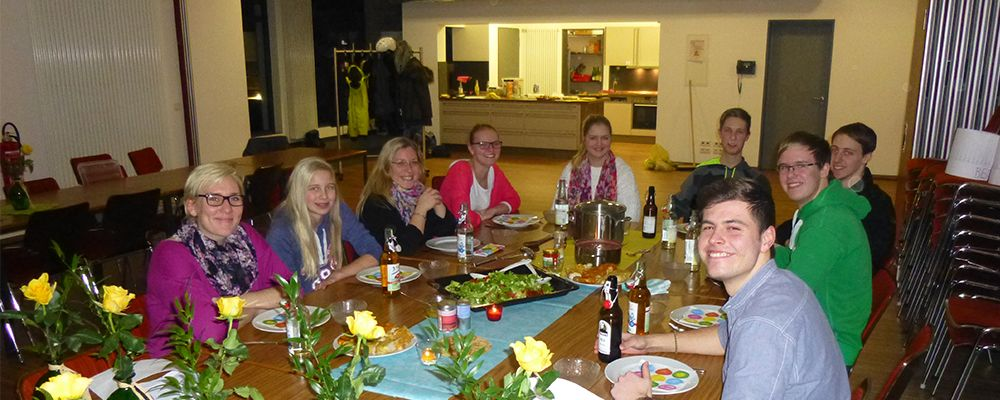 """Meet and Eat"" der Leiterrunde mit dem Kolpingjugend DV Paderborn"